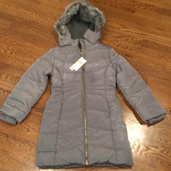 64d8be768 NWT Calvin Klein Everest hooded puffer coat NWT